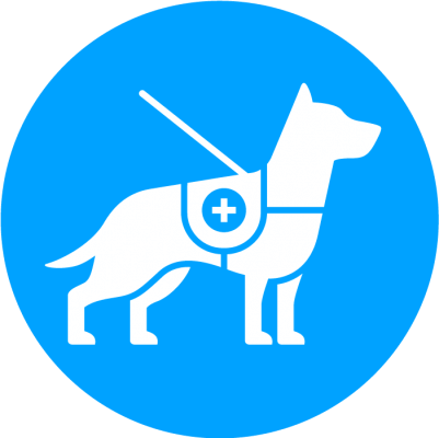 Service dog blue logo