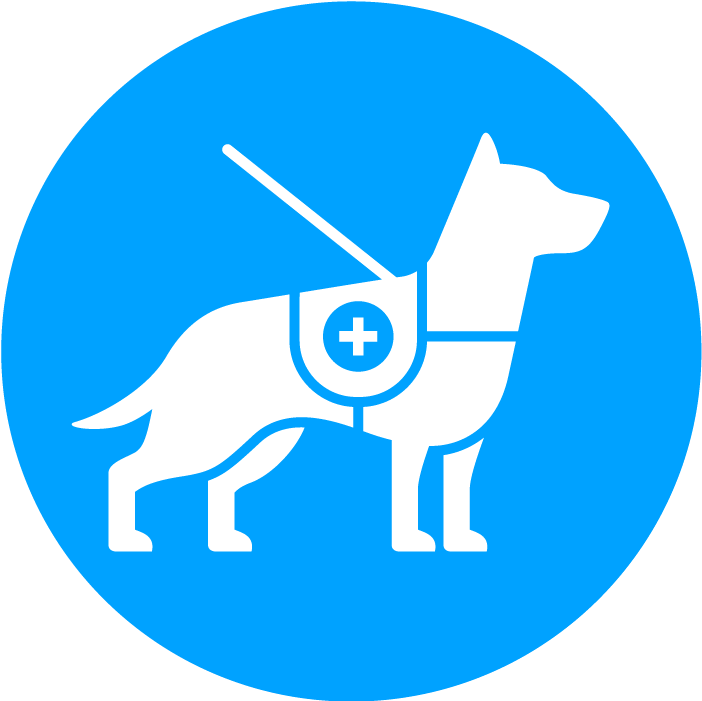 Service dog blue logo