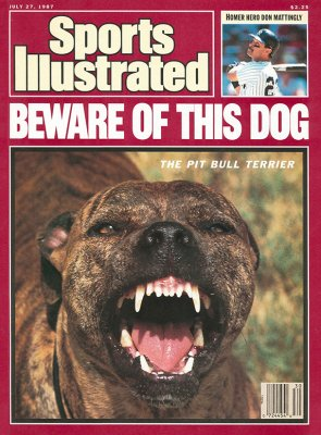 Sports Illustrated cover features snarling pit bull