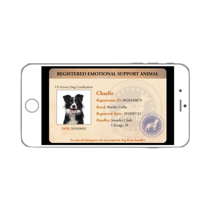 Emotional Support Animal Digital ID