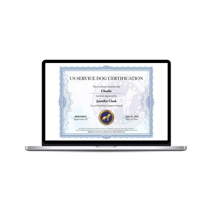 Emotional Support Animal Digital Certificate