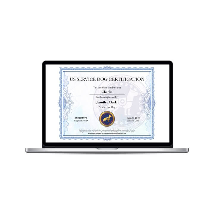 Service Dog Digital Certificate